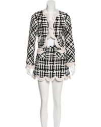 Marc Jacobs - Tweed Scalloped Skirt Suit W/ Tags - Lyst