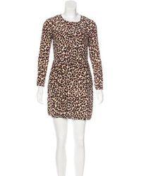 Steven Alan - Leopard Printed Mini Dress - Lyst