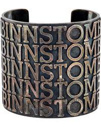 Tom Binns - Logo Cuff Silver - Lyst