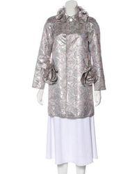 Marc Jacobs - Jacquard Coat Silver - Lyst