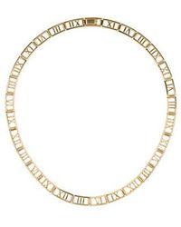 Tiffany & Co. - 18k Atlas Collar Necklace Yellow - Lyst