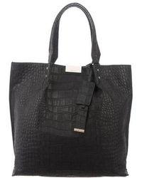 Karen Millen - Embossed Leather Bag Black - Lyst