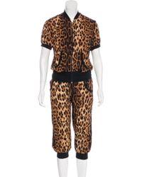 Roberto Cavalli - Leopard Printed Pant Set - Lyst