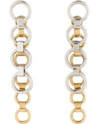 Dior - Circle Drop Earrings Gold - Lyst