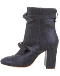 Alexandre Birman - Denim High-heel Boots W/ Tags Navy - Lyst