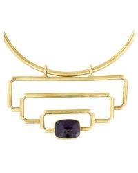 Anndra Neen - Claribel Deco Pendant Necklace Gold - Lyst