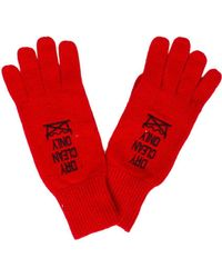 Moschino - Knit Dry Clean Only Gloves - Lyst