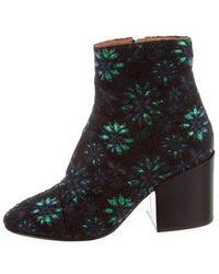 99dc2223073f95 Lyst - Dries Van Noten Mens Green Velvet Chelsea Ankle Boots in Green