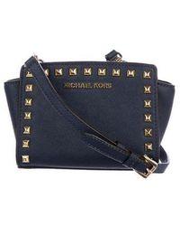 5c204da6b806 Lyst - Michael Michael Kors Michael Kors Small Leather Crossbody Bag ...