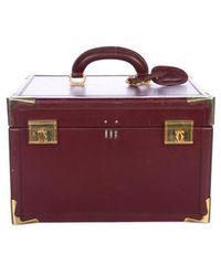 Cartier - Vintage Le Must De Train Case Travel Bag Gold - Lyst