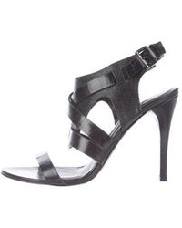 Vera Wang Lavender - Leather Caged Sandals - Lyst