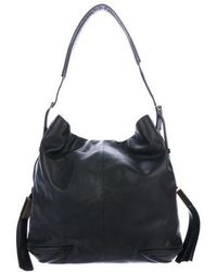 B Brian Atwood - Smooth Leather Large Hobo Black - Lyst