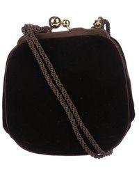 Judith Leiber - Velvet Mini Crossbody Bag W/ Tags Brown - Lyst