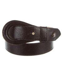KENZO - Embossed Leather Loop Belt - Lyst