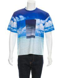 CALVIN KLEIN 205W39NYC - Ocean Sky Neoprene T-shirt W/ Tags - Lyst