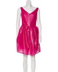 Carven - Mini A-line Dress Fuchsia - Lyst