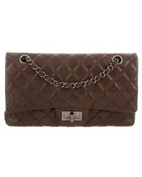 Chanel - Reissue 225 Double Flap Bag Silver - Lyst