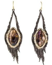 Alexis Bittar - Crystal & Abalone Nested Feather Drop Earrings Gold - Lyst