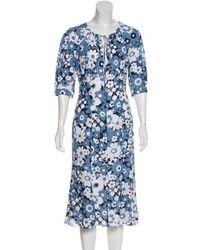 Michael Kors - Silk Printed Dress - Lyst