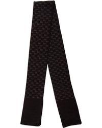MICHAEL Michael Kors - Michael Kors Logo Knit Scarf Black - Lyst