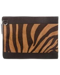 3.1 Phillip Lim - Leather-trimmed Tablet Case Brown - Lyst