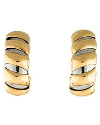 BVLGARI - 18k Two-tone Clip-on Earrings Yellow - Lyst