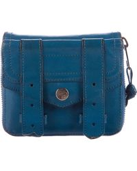Proenza Schouler - Ps1 Leather Wallet Blue - Lyst