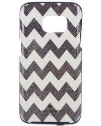 Kate Spade - Glitter Hardshell Samsung Galaxy S 7 Case Navy - Lyst