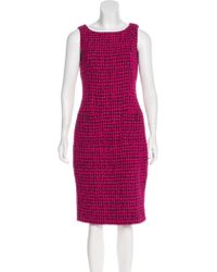 Chanel - 2016 Flocked Tweed Dress - Lyst