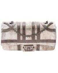 ee896c105edf Chanel - Paris Bombay Python Classic Single Flap Bag - Lyst