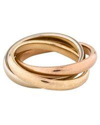 Tiffany & Co. - 14k Interlocking Circles Ring Yellow - Lyst