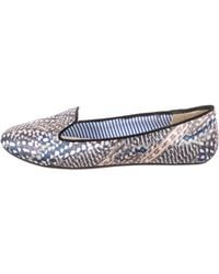 Charles Philip - Satin Printed Loafers - Lyst