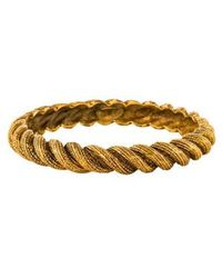 Chanel - Twisted Rope Bangle Gold - Lyst
