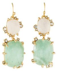Alexis Bittar - Elements Crystal Double Drop Earrings Gold - Lyst