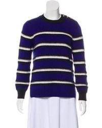 Draper James - Stripe Wool Sweater Royal - Lyst