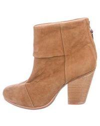 Rag & Bone - Newbury Suede Ankle Boots - Lyst
