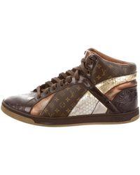 Louis Vuitton | Monogram Paneled Sneakers Brown | Lyst