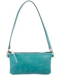 Etro - Smooth Leather Shoulder Bag Teal - Lyst