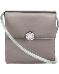BVLGARI - Satin Mini Flap Bag Grey - Lyst