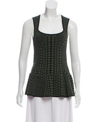 Torn By Ronny Kobo - Intarsia Knit Peplum Top - Lyst