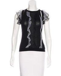 Prabal Gurung - Cashmere & Wool Blend Knit Top - Lyst