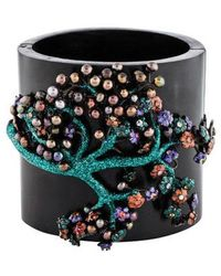 M.c.l  Matthew Campbell Laurenza - Multicolored Sapphire, Pearl & Enamel Wood Bangle Silver - Lyst