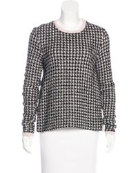 Dior - Patterned Scoop Neck Sweater - Lyst