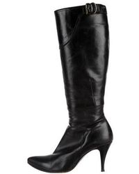cd48374d9f4 CoSTUME NATIONAL - Pointed-toe Knee-high Boots Black - Lyst