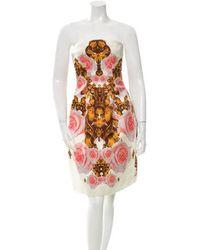 Josh Goot - Silk Floral Print Dress Multicolor - Lyst
