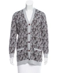 Julien David - Printed Button-up Cardigan W/ Tags Brown - Lyst