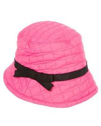 Kate Spade - Quilted Bucket Hat W/ Tags Fuchsia - Lyst