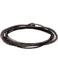 Brunello Cucinelli - Hematine & Spinel Beaded Wrap Bracelet Silver - Lyst