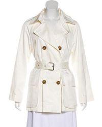 Carolina Herrera - Double-breasted Short Coat - Lyst