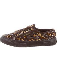 Roberto Cavalli - Superga X Embellished Low-top Sneakers - Lyst